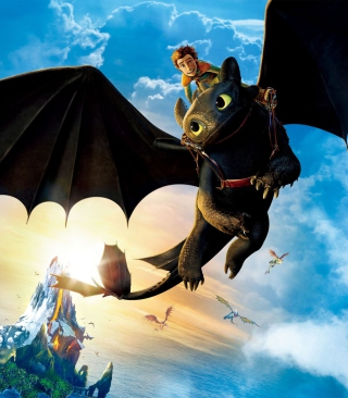 Hiccup Riding Toothless para Nokia C2-02