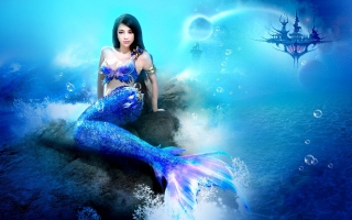 Misterious Blue Mermaid