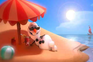 Olaf from Frozen Cartoon para 220x176