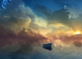 Boat In Sky Ocean Painting para Sony Ericsson XPERIA PLAY