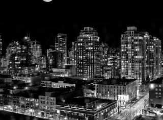 Night Canadian City para Widescreen Desktop PC 1920x1080 Full HD