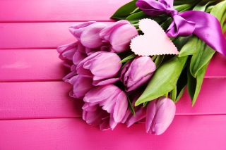 Purple Tulips Bouquet Is Love