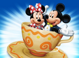 Mickey And Minnie Mouse In Cup para Sony Ericsson XPERIA Neo V