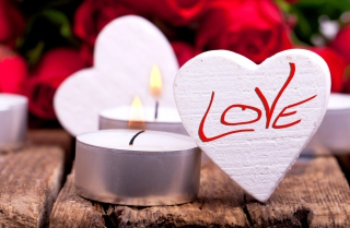Love Heart And Candles
