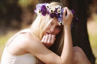 Blonde In Flower Crown