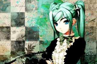Anime Girl Green Hair para Sony Ericsson XPERIA PLAY