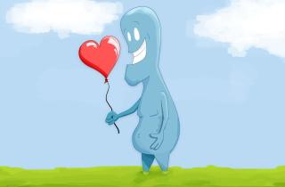 Blue Monster In Love