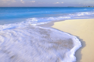 White Beach And Blue Water