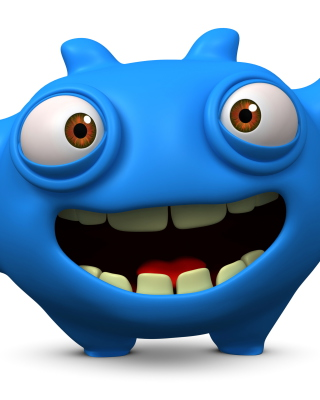 Cute Blue Cartoon Monster para Nokia C2-01