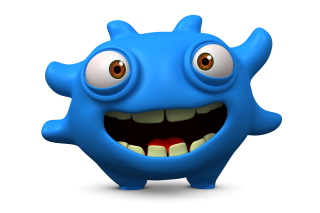 Cute Blue Cartoon Monster para Motorola RAZR XT910