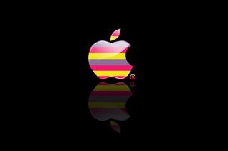 Colorful Stripes Apple Logo