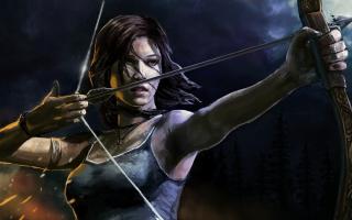 Lara Croft With Arrow para Motorola Photon 4G
