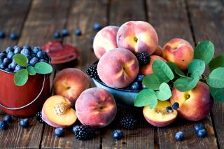 Blueberries and Peaches para Blackberry RIM Curve 9360