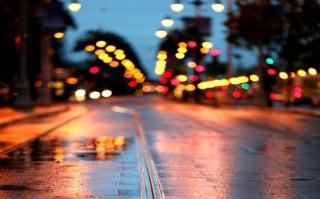 City Lights After Rain