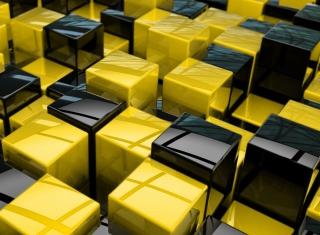 Yellow - Black Cubes para Nokia X2-01