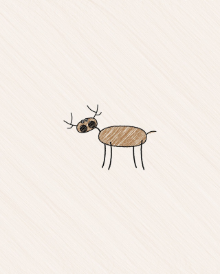 Funny Deer Drawing para LG BL40 New Chocolate
