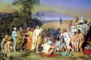 Alexander Ivanov Famous Painting - The Appearance Of Christ To The People