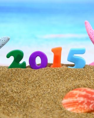 Happy New Year 2015 on Beach para Nokia C2-01