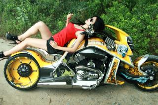 Girl On Yellow Bike