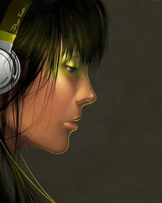 Girl With Headphones para Huawei G7300