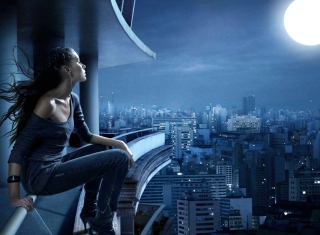 Night Walk On Roofs para LG E400 Optimus L3