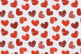 Valentine's Day Drawn Hearts