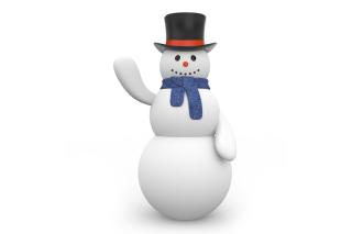 Snowman In Black Hat